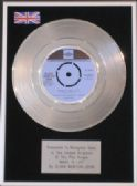 OLIVIA NEWTON JOHN  - Platinum Disc - WHAT IS LIFE
